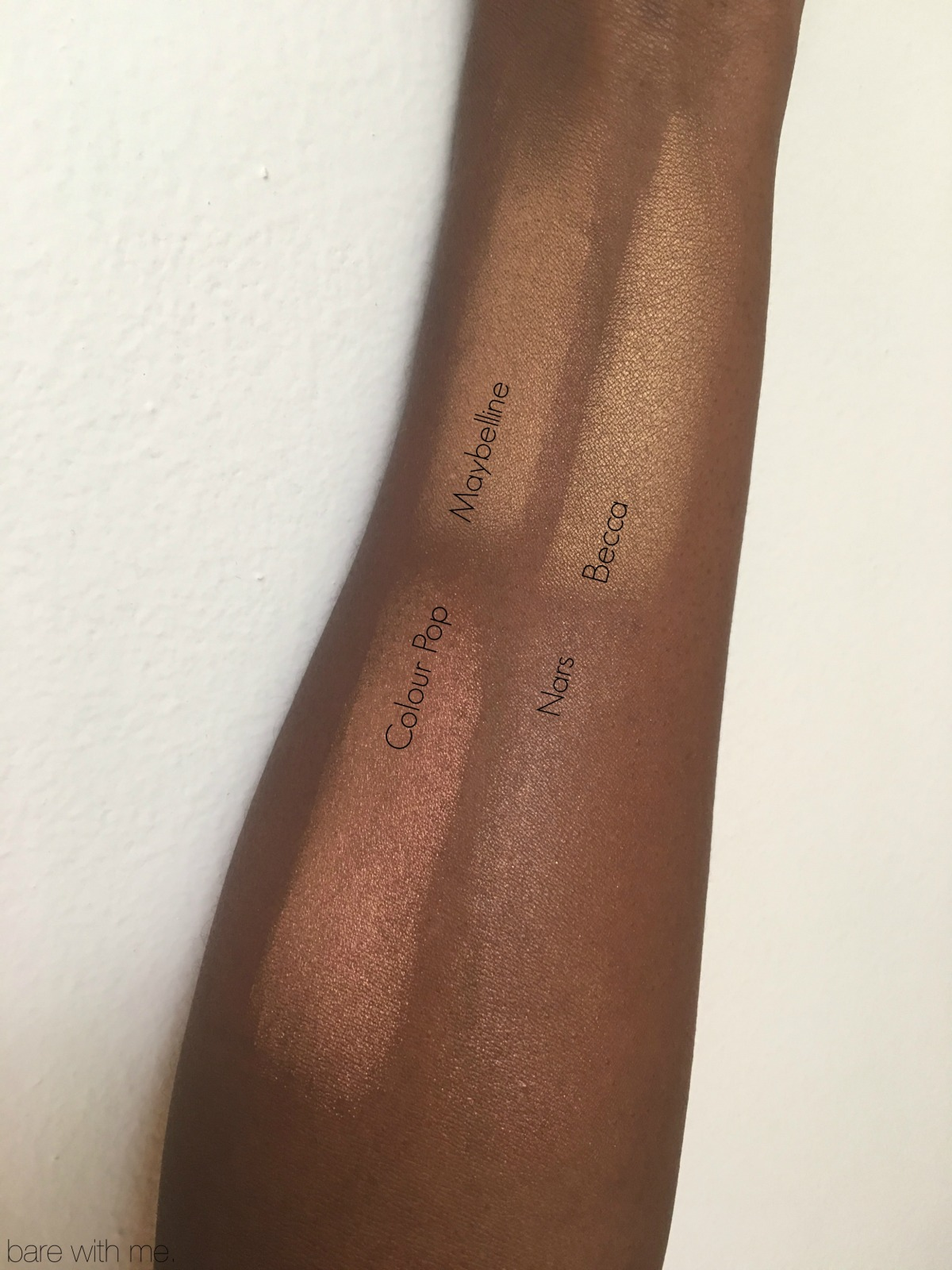 highlighter swatch